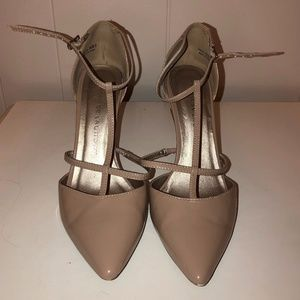 Chinese Laundry T-Strap Nude Heels SZ 8